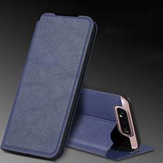 Handytasche Stand Schutzhülle Leder Hülle L01 für Samsung Galaxy A80 Blau