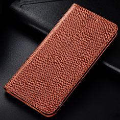 Handytasche Stand Schutzhülle Leder Hülle L01 für Samsung Galaxy M60s Braun