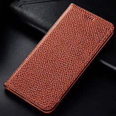 Handytasche Stand Schutzhülle Leder Hülle L01 für Samsung Galaxy Note 10 Lite Braun