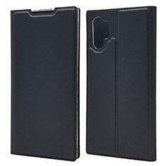 Handytasche Stand Schutzhülle Leder Hülle L01 für Samsung Galaxy Note 10 Plus Schwarz