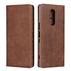 Handytasche Stand Schutzhülle Leder Hülle L01 für Sony Xperia 1 Braun