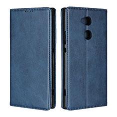 Handytasche Stand Schutzhülle Leder Hülle L01 für Sony Xperia XA2 Ultra Blau
