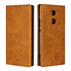Handytasche Stand Schutzhülle Leder Hülle L01 für Sony Xperia XA2 Ultra Orange