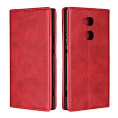 Handytasche Stand Schutzhülle Leder Hülle L01 für Sony Xperia XA2 Ultra Rot