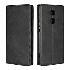 Handytasche Stand Schutzhülle Leder Hülle L01 für Sony Xperia XA2 Ultra Schwarz