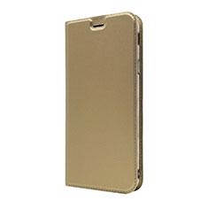 Handytasche Stand Schutzhülle Leder Hülle L01 für Sony Xperia XA3 Gold