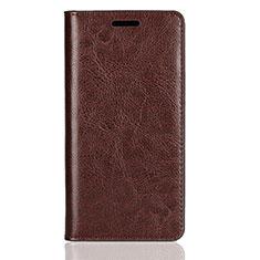 Handytasche Stand Schutzhülle Leder Hülle L01 für Sony Xperia XZ2 Compact Braun