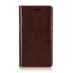 Handytasche Stand Schutzhülle Leder Hülle L01 für Sony Xperia XZ2 Premium Braun
