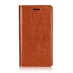 Handytasche Stand Schutzhülle Leder Hülle L01 für Sony Xperia XZ2 Premium Orange
