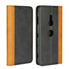 Handytasche Stand Schutzhülle Leder Hülle L01 für Sony Xperia XZ3 Schwarz