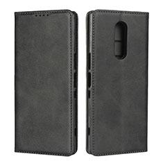Handytasche Stand Schutzhülle Leder Hülle L01 für Sony Xperia XZ4 Schwarz