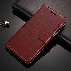 Handytasche Stand Schutzhülle Leder Hülle L01 für Vivo X50 Lite Braun
