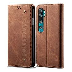 Handytasche Stand Schutzhülle Leder Hülle L01 für Xiaomi Mi Note 10 Braun