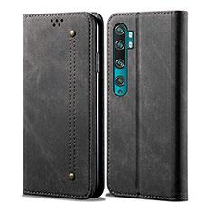 Handytasche Stand Schutzhülle Leder Hülle L01 für Xiaomi Mi Note 10 Schwarz