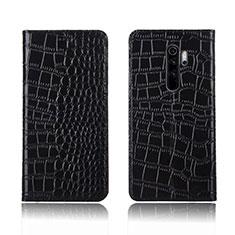 Handytasche Stand Schutzhülle Leder Hülle L01 für Xiaomi Redmi Note 8 Pro Schwarz