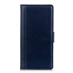 Handytasche Stand Schutzhülle Leder Hülle L02 für Alcatel 1S (2019) Blau