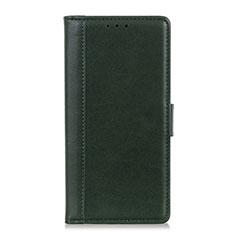 Handytasche Stand Schutzhülle Leder Hülle L02 für Alcatel 3X Grün