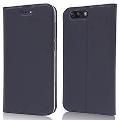 Handytasche Stand Schutzhülle Leder Hülle L02 für Asus Zenfone 4 ZE554KL Blau