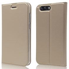 Handytasche Stand Schutzhülle Leder Hülle L02 für Asus Zenfone 4 ZE554KL Gold