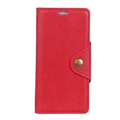 Handytasche Stand Schutzhülle Leder Hülle L02 für Asus Zenfone 5 Lite ZC600KL Rot
