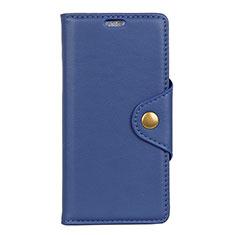 Handytasche Stand Schutzhülle Leder Hülle L02 für Asus Zenfone Max ZB555KL Blau