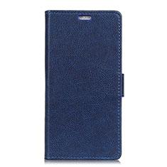 Handytasche Stand Schutzhülle Leder Hülle L02 für Asus ZenFone V Live Blau