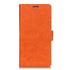 Handytasche Stand Schutzhülle Leder Hülle L02 für Asus ZenFone V500KL Orange
