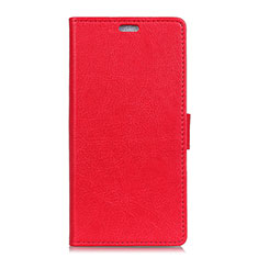 Handytasche Stand Schutzhülle Leder Hülle L02 für Asus ZenFone V500KL Rot