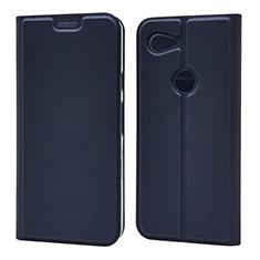 Handytasche Stand Schutzhülle Leder Hülle L02 für Google Pixel 3a XL Blau
