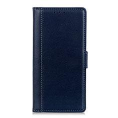 Handytasche Stand Schutzhülle Leder Hülle L02 für HTC Desire 19 Plus Blau