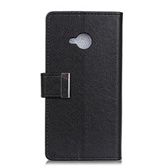 Handytasche Stand Schutzhülle Leder Hülle L02 für HTC U11 Life Schwarz
