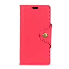 Handytasche Stand Schutzhülle Leder Hülle L02 für HTC U12 Life Rot