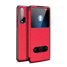 Handytasche Stand Schutzhülle Leder Hülle L02 für Huawei Nova 6 5G Rot