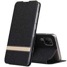 Handytasche Stand Schutzhülle Leder Hülle L02 für Huawei P40 Lite Schwarz