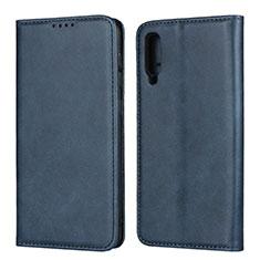 Handytasche Stand Schutzhülle Leder Hülle L02 für Samsung Galaxy A50 Blau