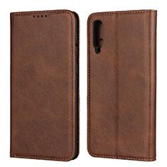 Handytasche Stand Schutzhülle Leder Hülle L02 für Samsung Galaxy A50 Braun