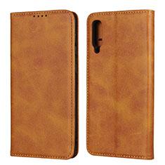 Handytasche Stand Schutzhülle Leder Hülle L02 für Samsung Galaxy A50 Orange