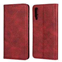 Handytasche Stand Schutzhülle Leder Hülle L02 für Samsung Galaxy A50 Rot