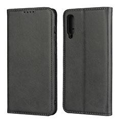 Handytasche Stand Schutzhülle Leder Hülle L02 für Samsung Galaxy A50 Schwarz