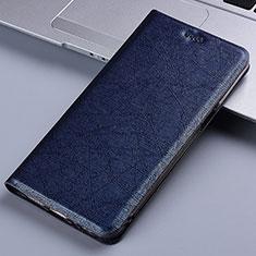 Handytasche Stand Schutzhülle Leder Hülle L02 für Samsung Galaxy A81 Blau