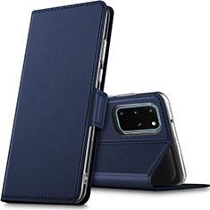 Handytasche Stand Schutzhülle Leder Hülle L02 für Samsung Galaxy S20 Plus 5G Blau