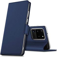 Handytasche Stand Schutzhülle Leder Hülle L02 für Samsung Galaxy S20 Ultra 5G Blau
