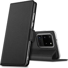 Handytasche Stand Schutzhülle Leder Hülle L02 für Samsung Galaxy S20 Ultra 5G Schwarz