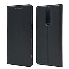 Handytasche Stand Schutzhülle Leder Hülle L02 für Sony Xperia 1 Schwarz