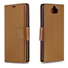 Handytasche Stand Schutzhülle Leder Hülle L02 für Sony Xperia 10 Plus Braun