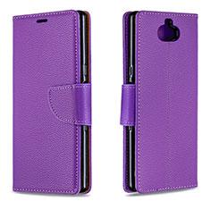 Handytasche Stand Schutzhülle Leder Hülle L02 für Sony Xperia 10 Violett
