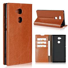Handytasche Stand Schutzhülle Leder Hülle L02 für Sony Xperia XA2 Ultra Orange