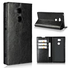 Handytasche Stand Schutzhülle Leder Hülle L02 für Sony Xperia XA2 Ultra Schwarz