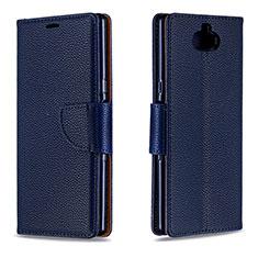 Handytasche Stand Schutzhülle Leder Hülle L02 für Sony Xperia XA3 Blau