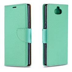Handytasche Stand Schutzhülle Leder Hülle L02 für Sony Xperia XA3 Grün